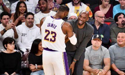 ¡LeBron presenta su loco par de Kobe sin comercializar!