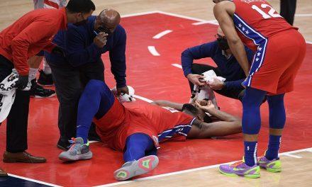 NBA, Joel Embiid en duda para el Juego 1 contra Atlanta